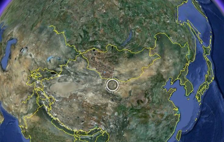 中国甘粛省酒泉衛星発射センター...